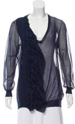 3.1 Phillip Lim Ruffle-Trimmed Long Sleeve Top