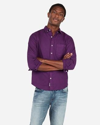 Express Slim Soft Wash Garment Dyed Oxford Shirt