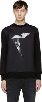 Neil Barrett Black Sculpture Boomerang Sweatshirt