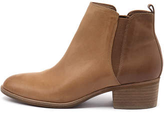 Django & Juliette Hostie Camel-tan Boots Womens Shoes Casual Ankle Boots