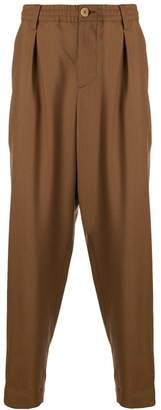 Marni high waisted loose fit trousers