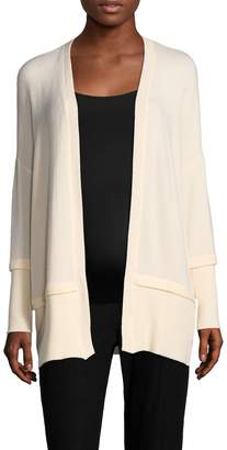 Three Dots Women's Ribbed Solid Cardigan