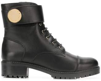Emporio Armani ankle strap boots