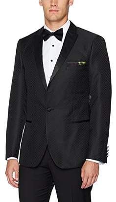 Paisley & Gray Men's Slim Fit Peak Lapel Jacquard Dinner Jacket