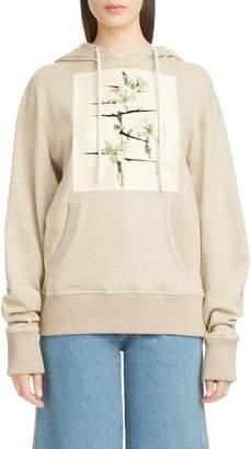 Loewe Botanical Print Knit Hoodie