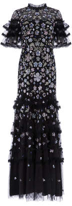 Needle & Thread Meadow Ruffled Sequin Gown