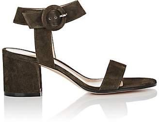 Gianvito Rossi Women's Block-Heel Suede Sandals - Dk. Green