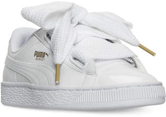 Puma Women's Basket Heart Patent Casual Sneakers from Finish Line $84.99 thestylecure.com