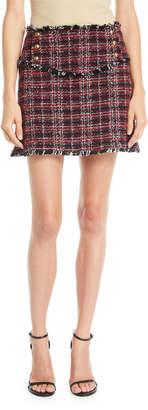 Pinko Tweed Fringe Mini Skirt