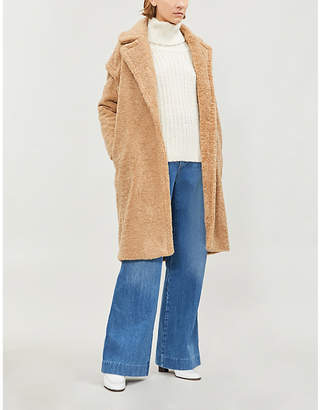 Maje Goffins faux-shearling coat