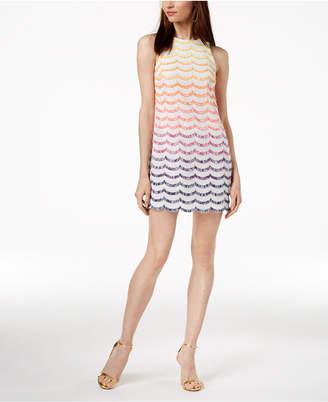 Trina Turk Macee Fringe-Striped Shift Dress
