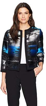 Kasper Women's Grpahic Printed Flyaway Jacket