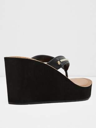 8a41bb529 Aldo Black Wedge Sandals For Women - ShopStyle UK