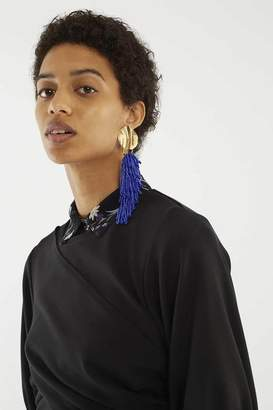3.1 Phillip Lim Crop Twist-Front Top