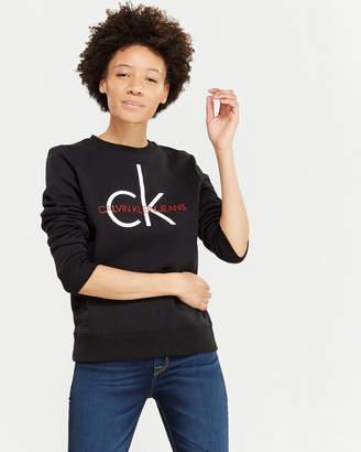 Calvin Klein Jeans Heritage Logo Fleece Sweatshirt