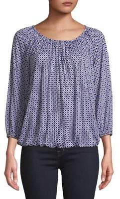 MICHAEL Michael Kors Printed Cinched Top