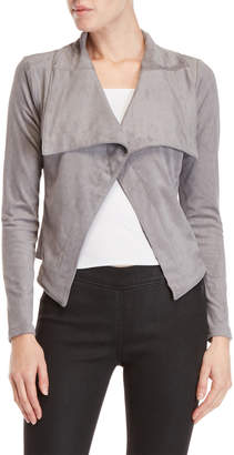 Romeo & Juliet Couture Romeo + Juliet Couture Faux Suede Draped Jacket