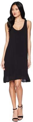 Splendid Rayon Voile Double Layer Dress Women's Dress