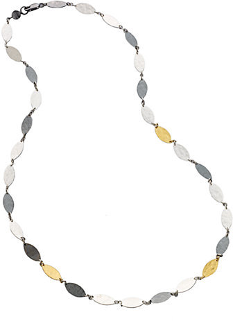 Gurhan Willow 24K Yellow Gold & Sterling Silver Leaf Flake Necklace