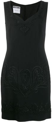 Moschino Pre-Owned embroidered mini dress