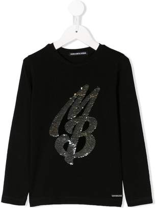 Marco Bologna Kids sequinned logo longsleeved T-shirt