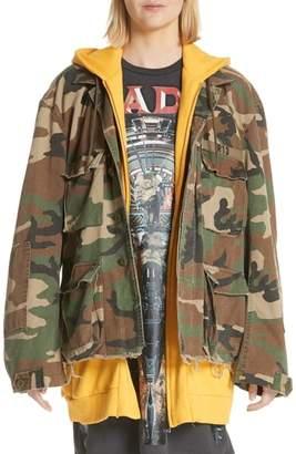 R 13 Camo Abu Jacket with Long Hoodie