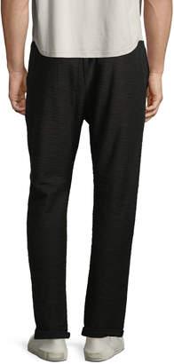 Antony Morato Men's Textured Slub Sweatpants, Black