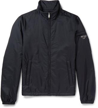 Prada Slim-Fit Padded Nylon Bomber Jacket $870 thestylecure.com