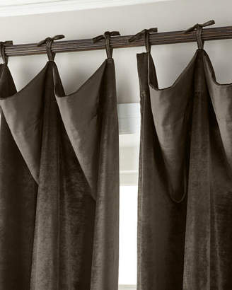 "Thomas Laboratories Misti Modern Luxuries 132""L Tie-Top Velvet Curtain"