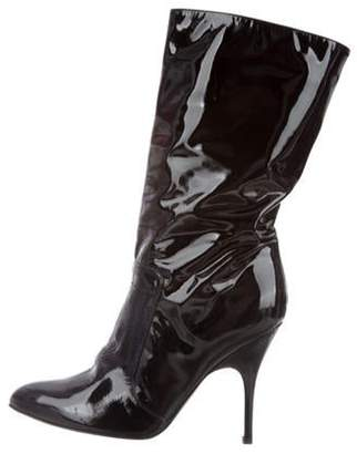 Lanvin Patent Leather Pointed-Toe Boots Black Patent Leather Pointed-Toe Boots