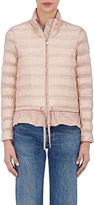 Moncler Women's Anemone Channel-Quilted Down Jacket $975 thestylecure.com