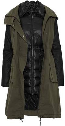Ashley B. Convertible Cotton-Blend And Quilted Shell Coat