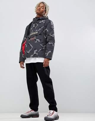 Napapijri Rainforest winter 1 jacket in gray camo