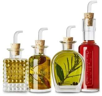 Luigi Bormioli Mixology Elixir 4 Piece Glass Condiment Set