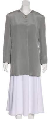 Ellen Tracy Linda Allard Silk Short Coat