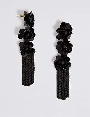 Marks and Spencer Triple Flower Shower Drop Earrings