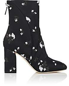 Zac Posen Women's Ines Floral Brocade Ankle Boots-Black