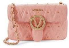 Mario Valentino Embellished Leather & Chain-Strap Shoulder Bag