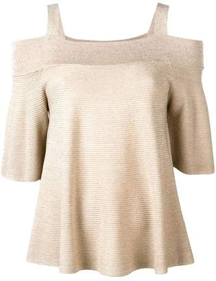 Liu Jo off-shoulder knitted top