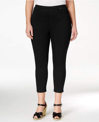 Style&Co. Style & Co Plus Size Pull-On Capri Leggings, Created for Macy's