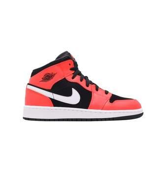 0697a19e6ff1 Nike Jordan 1 I Mid BG GS Kids Youth Boys Infrared 23 554725-061 US