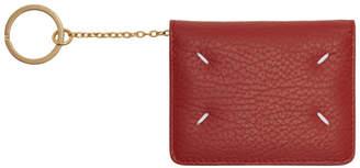 Maison Margiela Red Bifold Card Holder