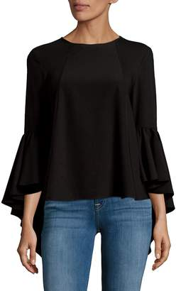 Saks Fifth Avenue BLACK Women's Bell Sleeve Top - Black, Size xs [x-small]