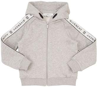 Givenchy Logo Zip-Up Cotton Sweatshirt Hoodie