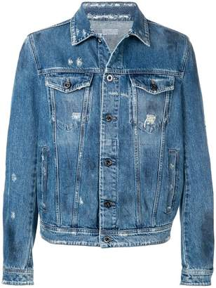 Diesel Black Gold denim jacket with stone-washed finish