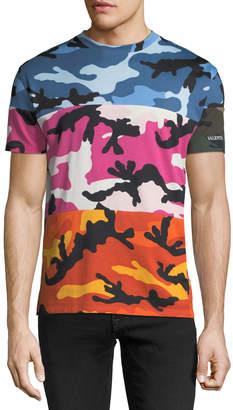 Valentino Shuffle Camouflage Paneled T-Shirt