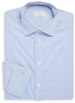 Eton Pinstriped Contemporary-Fit Cotton Dress Shirt
