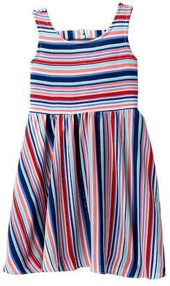 Iris & Ivy Pebble Crepe with Lurex Stripe Dress (Little Girls)