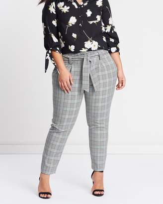Check Tie Waist Trousers