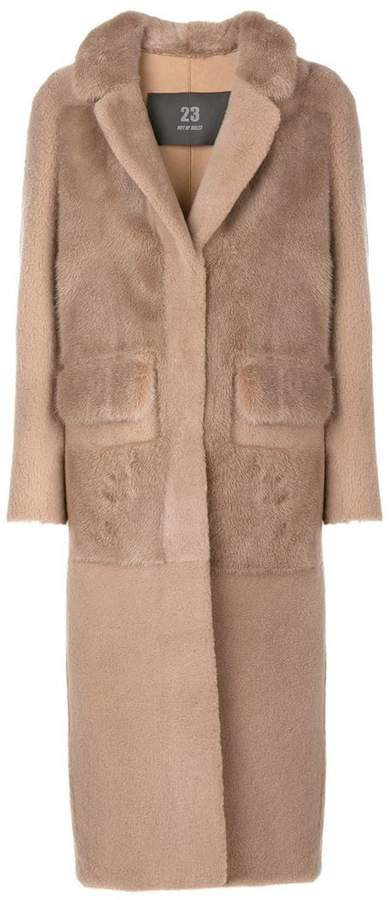 23 Out Of Rules fur mesh coat